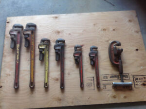 rigid pipe wrenchs and pipe cutter