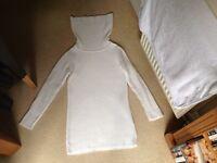 Reiss cowl neck tunic jumper size medium