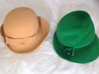 Vintage felt hats.