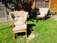 Two living room/conservatory chairs