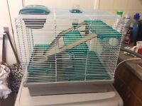 Hamster cage multi level 6 months old £25 Ono