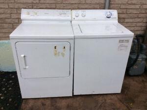 Washer & Dryer GE Washer Moffat Dryer