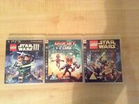 PS3 Lego Star Wars games and ratchet and clank