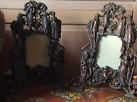 Antique Bronze frames very large lovely decoration on them ladies and gents
