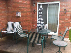 patio set with double rocker