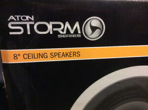 "Aton Storm Series A81C 8"" ceiling two way speakers"