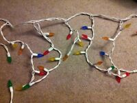 2 sets of Indoor Christmas icicle strand lights multi colour