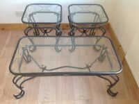 Glass top coffee tables set of 3