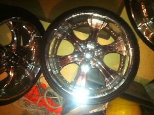 universal 22' wheels and tires.