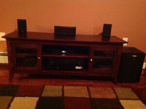 Wood TV Stand/Entertainment Unit with Storage.