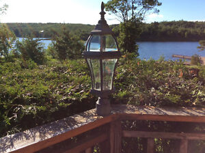 Coach style outdoor post lights for sale