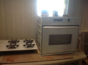 Built in Electric Kitchen Aid oven and counter top gas range