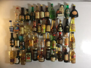 Small liquor bottles collection