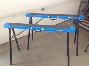 Mastercraft metal foldable sawhorses