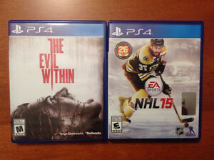 Jeux PS4 Games - The Evil Within, NHL 15