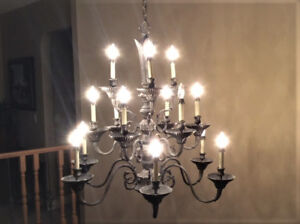 Antique chandelier kijiji in calgary buy sell save with two elegant vintage style chandeliers aloadofball Images