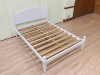 Painted double pine bed.
