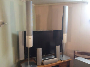 "Complete Home Theatre System with 37"" TV DVD changer, 6 speakers"