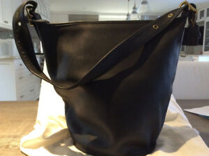 Black large Coach tote bag