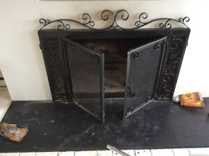 Wrought fire surround and gates 4ftx2ft6