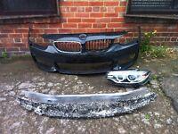 BMW 4 series m Sport 2014 2015 genuine m Sport front bumper + passenger xenon headlight for sale