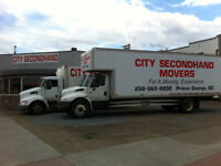Empty moving van coming from Lower Mainland Feb. 2-3