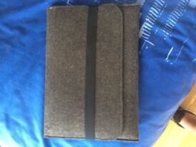 """Soft Apple laptop sleeve for the 13"""" Macbook Pro, its a heavy Hessian materiaL"""