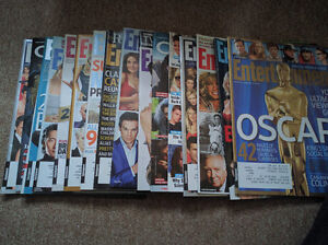 17 magazines of entertainment mixed 5$ the whole lot