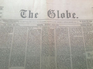 THE GLOBE JULY 1, 1867 ~ A FACSIMILE FROM THE GLOBE & MAIL, 1967
