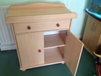 Beech changing unit/table