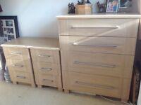 REDUCED - Schreiber Bedroom Furniture Set - 5 pieces - oak effect