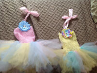 Two Easter tutu dresses - 1-2 years and 3-4 years