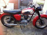 BSA B40. Classic motorbike