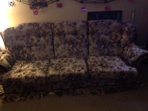 Couch with flowers on it