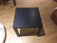 Free small black side table