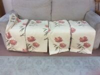 CURTAINS FULLY LINED 2 Pairs 62 ins wide x70 ins Long