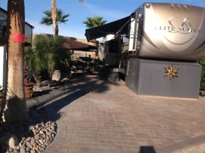 PALM SPRINGS 5 STAR RESORT LIVING LOT FOR SALE WITH FIFTH WHEEL
