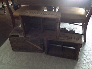 Three Vintage Pepsi Crates