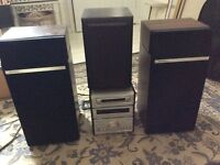 Technics Stereo Separates Plus 3 Technics Speakers