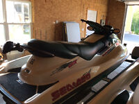 1996 3 seater Seadoo with reverse and trailer in excellent cond
