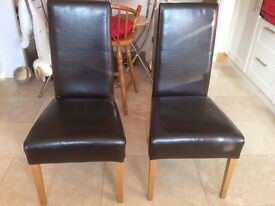 Dining chairs x 4 (2 need repair/covering)