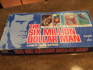 VINTAGE THE SIX MILLION DOLLAR MAN BOARD GAME 1975