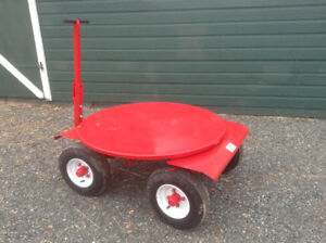TURNTABLE ROUND BALE FEED CART