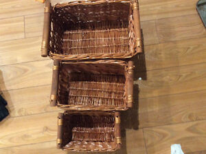 Wicker basket 3 pieces