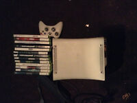 Good Condition Xbox 360, hard drive, controller, lots of games