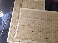Bamboo window covering each panel 24' wide x 36' long
