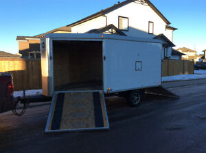 Wells Cargo, 15 ft 2place drive in drive out sled/quad trailer.