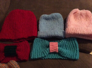 Knitted hats , slippers & headbands