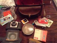 Kodak coloursnap35 camera, with kodak case and flash