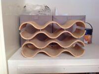 Wine rack, wooden